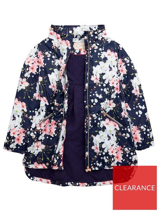 c65388c11635 Baker by Ted Baker Girls Floral Print Lightweight Jacket