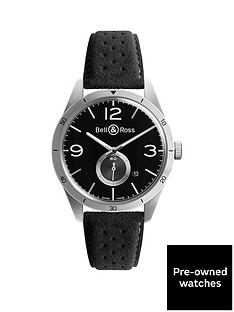 bell-ross-pre-owned-brv-123-insignia-black-dial-stainless-steel-mens-watch