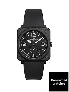 bell-ross-bell-amp-ross-pre-owned-aviation-black-matte-ceramic-mens-watch-ref-brs-bl-cem
