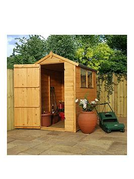 mercia-6-x-4ft-premium-shiplapnbspshed-with-windows-apex-roof-and-single-door