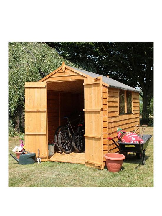 8 X 6ft Great Value Overlap Apex Shed With Windows And Double Doors