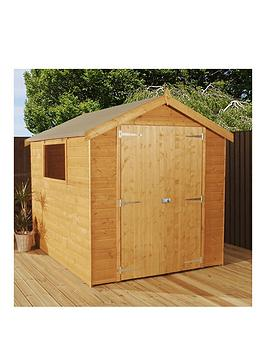 mercia-8-x-6ft-luxury-shiplapnbspapex-shed-with-window-tongue-amp-groove-roof-and-floor