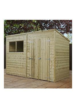 mercia-10x6nbspft-premium-shiplapnbspshed-with-pent-roof-windows-and-double-doors-assembly-included