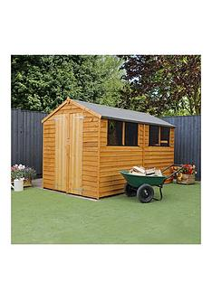 mercia-10x6ft-great-value-overlap-apex-shed-with-double-doors-amp-4-windows-assembly-included
