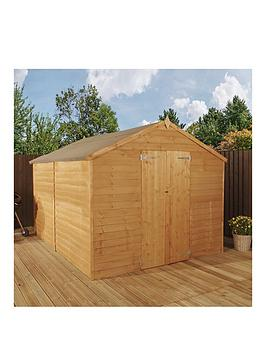 mercia-10x8ft-great-value-overlap-apex-windowless-double-door-garden-shed-assembly-included
