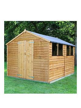 mercia-12-x-8-ftnbspgreat-value-overlap-apex-workshopnbspwith-double-doors-4-windows-and-assembly