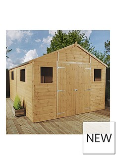 mercia-12nbspx-10nbspft-premium-tongue-amp-groove-apex-workshop-with-6-windows-double-doors-tampg-roof-and-floor
