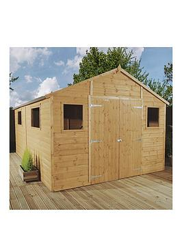 mercia-12x10ft-premium-tongue-amp-groove-apex-workshop-with-6-windows-double-door-tampg-roof-amp-floor-assembly-included