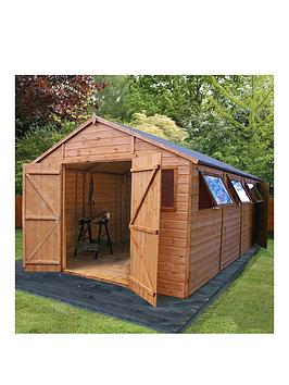 mercia-20x10ftnbsppremium-tongue-amp-groove-apex-workshop-with-6-windows-double-door-tampg-roof-and-floor-assembly-included