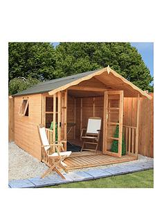 mercia-premium-12-x-8-ft-tongue-amp-groove-cotswold-summerhouse-with-veranda-assembly-includednbsp