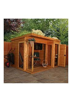mercia-10-xnbsp8ft-premium-garden-room-summerhouse-with-side-shed-assembly-included