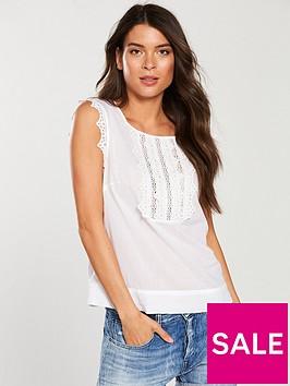 v-by-very-sleeveless-crochet-shell-top-white