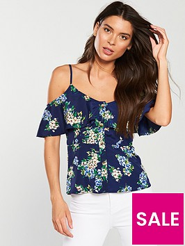 v-by-very-cold-shoulder-button-through-cami-floral-print