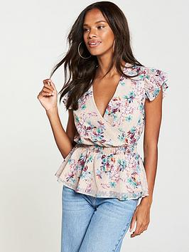 v-by-very-dobby-print-cut-out-top-floral-print