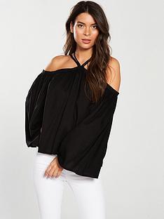 v-by-very-multi-strap-halter-neck-top-black