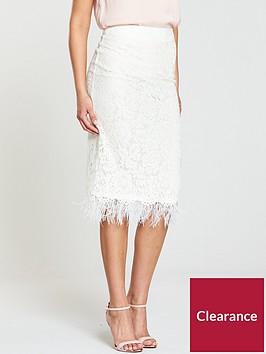 v-by-very-feather-trim-midi-skirt