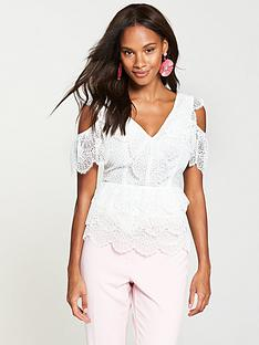 v-by-very-scallop-cold-shoulder-lace-top-ivory