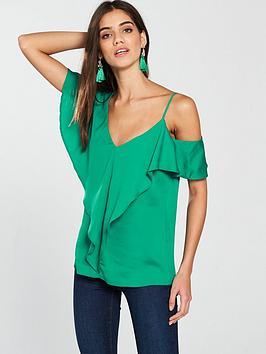 v-by-very-asymmetricnbsptop-green