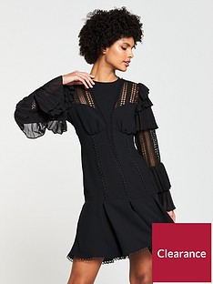 v-by-very-lace-and-frill-dress-black