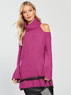 v-by-very-cold-shoulder-roll-neck-jumper-rose