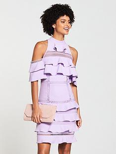 v-by-very-lace-trim-cold-shoulder-midi-dress-lilac