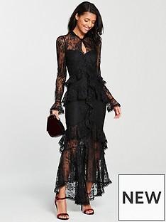v-by-very-figure-hugging-maxi-dress-black