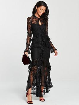 v-by-very-frill-all-over-lace-maxi-dress-black