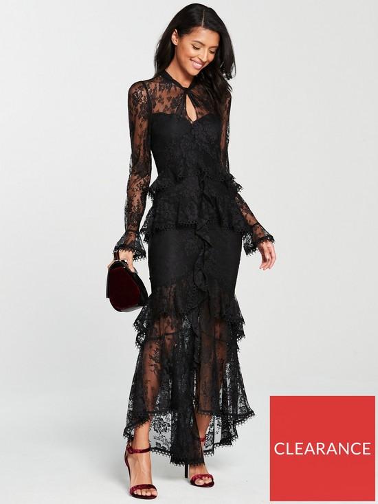 55c2b7fbc914 V by Very Figure-Hugging Maxi Dress - Black