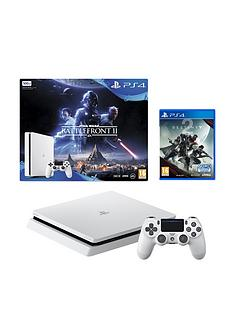 playstation-4-star-wars-battlefront-2-500gb-glacier-white-ps4-bundle-with-destiny-2-365-psn-subscription-and-extra-dualshock-controller