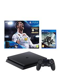 playstation-4-slimnbsp500gbnbspconsole-with-fifa-18-and-destiny-2-plusnbspoptional-extra-controller-andor-12-months-playstation-network