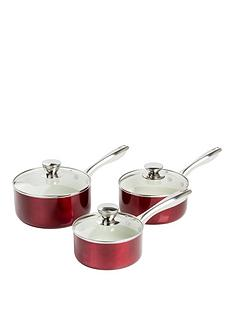 morphy-richards-accents-3-piece-saucepan-set-ndash-red