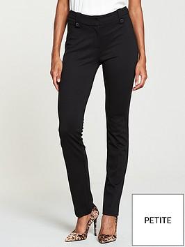 v-by-very-petite-ponte-slim-leg-trouser-black