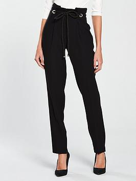 v-by-very-rope-belted-tapered-leg-trouser-blacknbsp