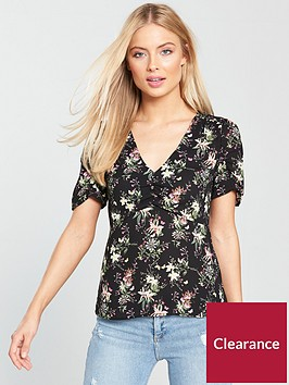 oasis-secret-garden-ruched-top