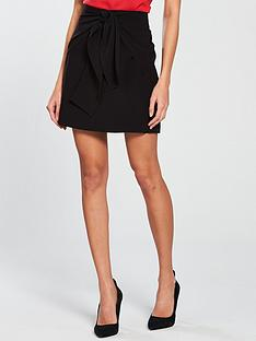 v-by-very-knot-front-skirt-black