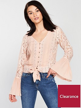 v-by-very-lace-tie-front-blouse-dusty-pink