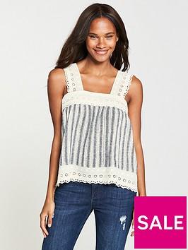 v-by-very-crochet-trim-stripe-linen-cami-stripe