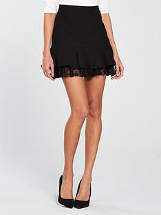 v-by-very-short-lace-frill-skirt-black