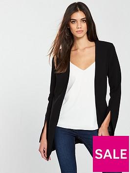 v-by-very-longline-split-cuff-jacket-black