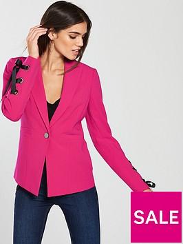 v-by-very-eyelet-blazer-hot-pink