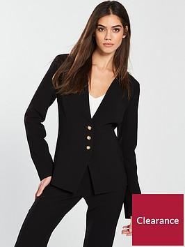 v-by-very-pleat-neck-detail-jacket-black