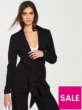 v-by-very-tie-front-jacket-black