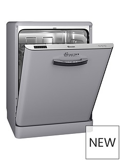 Swan SDW7040GRN 12-Place Retro Dishwasher Best Price, Cheapest Prices