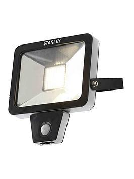 stanley-30-watt-slimline-floodlight-with-adjustable-pir-4000k