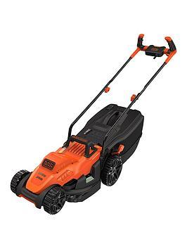 black-decker-1400wnbsp34-cm-lawnmower-with-bike-handle-controls