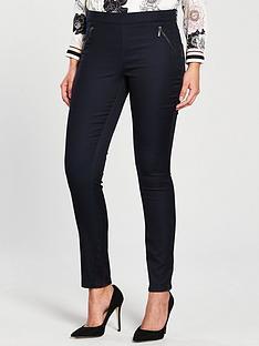 wallis-tinseltown-side-zip-trouser-navy