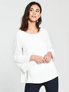 wallis-wallis-crochet-double-flute-sleeve-blouse