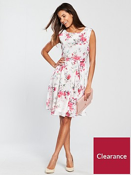 wallis-blossom-floral-fit-and-flare-dress