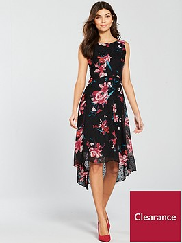 wallis-floral-dobby-hi-low-dress