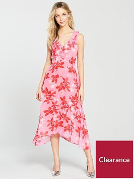 wallis-ruffle-hanky-hem-midi-dress-pinknbsp